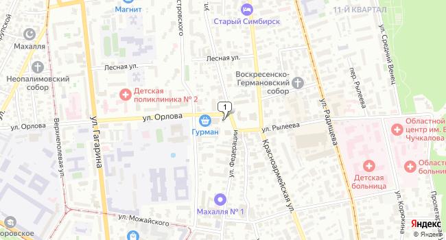 Арендовать торговую площадь 234 м<sup>2</sup> в Ульяновске по адресу Россия, Ульяновск, улица Орлова, 20