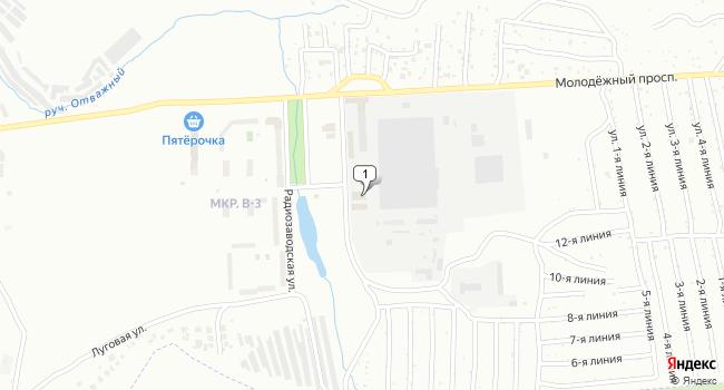 Купить торговую площадь 477 м<sup>2</sup> в Жигулевске по адресу Россия, Самарская область, Жигулевск, Радиозаводская улица, 7