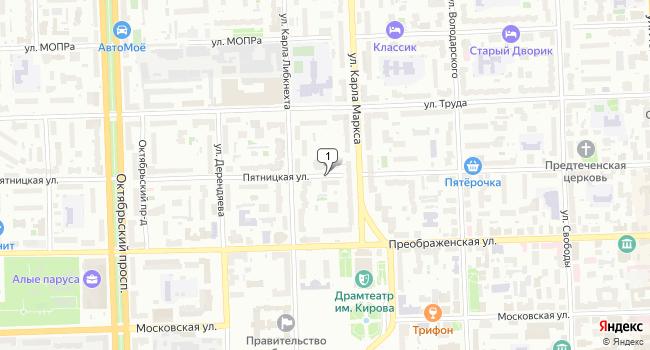 Арендовать офис 96 м<sup>2</sup> в Кирове по адресу Россия, Киров, Пятницкая улица