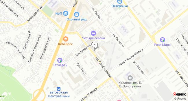Арендовать склад 870 м<sup>2</sup> в Самаре по адресу Россия, Самара, улица Санфировой, 95