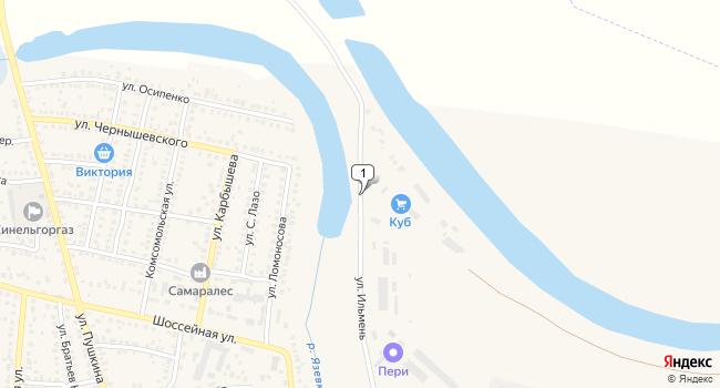Арендовать склад 400 м<sup>2</sup> в Кинеле по адресу Россия, Самарская область, Кинель, улица Ильмень