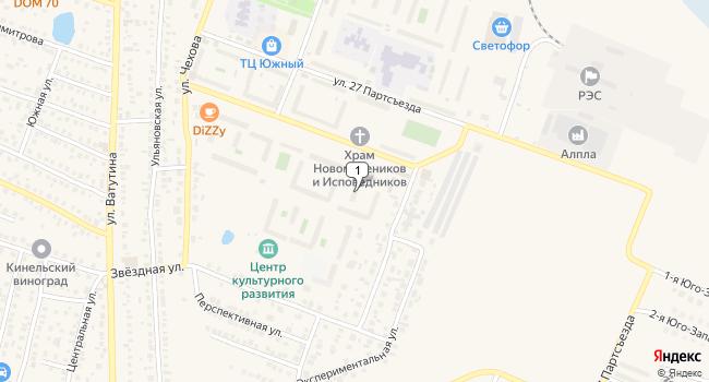 Арендовать коммерческую недвижимость 196 м<sup>2</sup> в Кинеле по адресу Россия, Самарская область, Кинель, Фестивальная улица, 2В