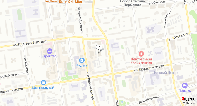 Купить офис 54 м<sup>2</sup> в Сыктывкаре по адресу Россия, Республика Коми, Сыктывкар, Интернациональная улица, 78