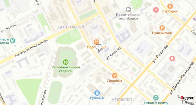 Арендовать офис 20 м<sup>2</sup> в Сыктывкаре по адресу Россия, Республика Коми, Сыктывкар, Первомайская улица, 115