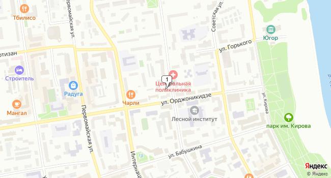 Арендовать офис 12 м<sup>2</sup> в Сыктывкаре по адресу Россия, Республика Коми, Сыктывкар, улица Ленина, 36