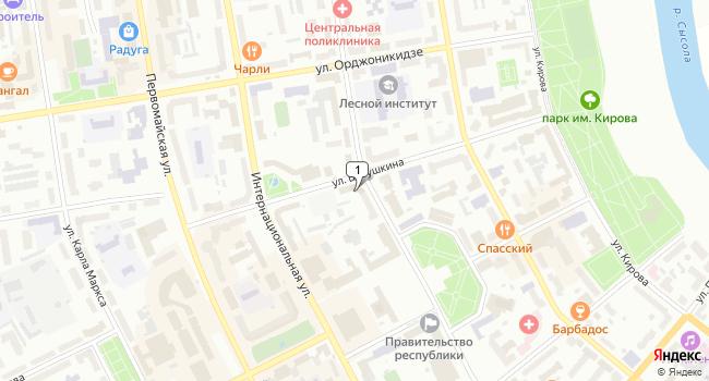 Арендовать офис 23 м<sup>2</sup> в Сыктывкаре по адресу Россия, Республика Коми, Сыктывкар, Центральный район, улица Бабушкина, 19