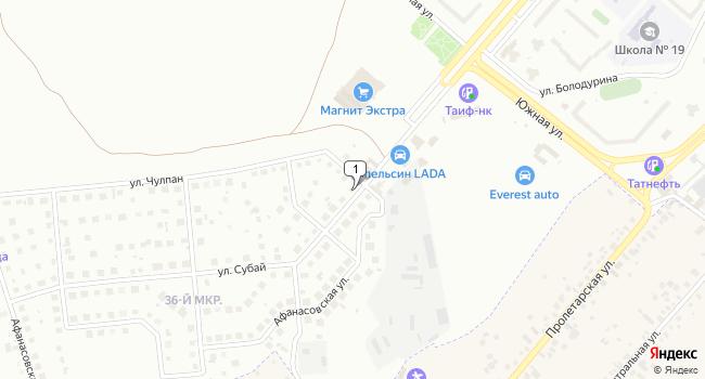 Арендовать торговую площадь 912 м<sup>2</sup> в Нижнекамске по адресу Россия, Республика Татарстан, Нижнекамск, 36-й микрорайон, улица Субай, 2