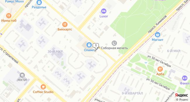 Арендовать торговую площадь 52 м<sup>2</sup> в Нижнекамске по адресу Россия, Республика Татарстан, Нижнекамск, улица Баки Урманче, 7