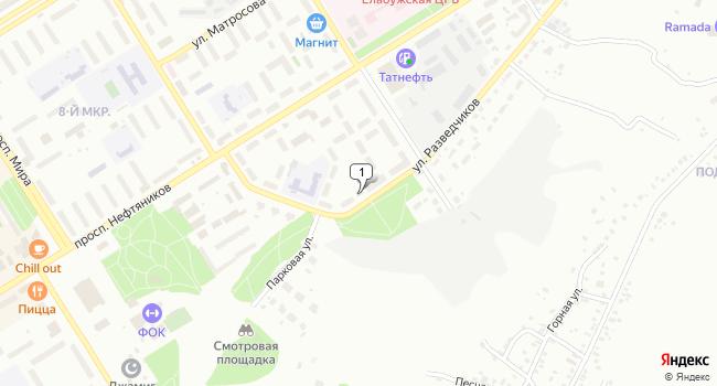 Купить коммерческую недвижимость 553 м<sup>2</sup> в Елабуге по адресу Россия, Республика Татарстан, Елабуга, улица Разведчиков, 35