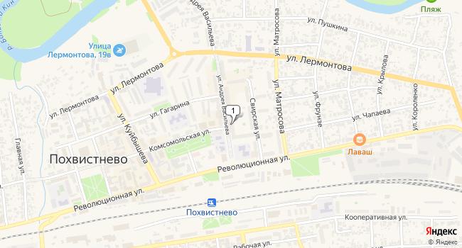 Арендовать торговую площадь 350 м<sup>2</sup> в Похвистнево по адресу Россия, Самарская область, Похвистнево, улица Васильева, 6