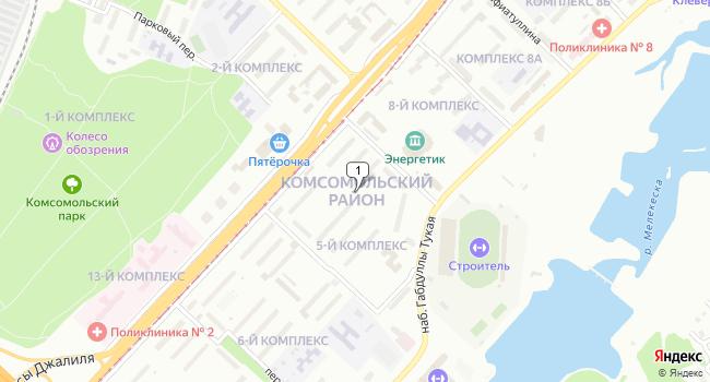 Купить отдельное здание 1472 м<sup>2</sup> в Набережных Челнах по адресу Россия, Республика Татарстан, Набережные Челны, Комсомольский район