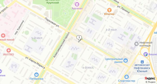 Арендовать торговую площадь 86 м<sup>2</sup> в Нефтекамске по адресу Россия, Республика Башкортостан, Нефтекамск, Парковая улица, 15
