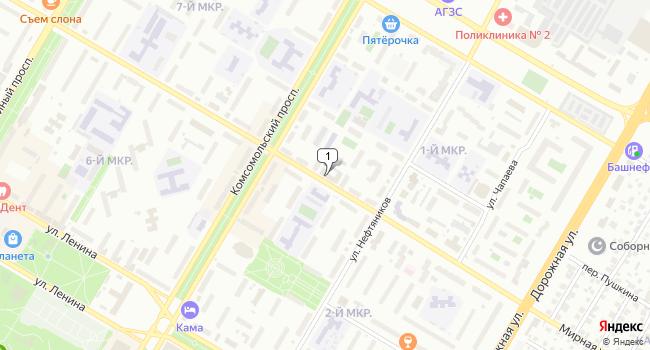Арендовать торговую площадь 19 м<sup>2</sup> в Нефтекамске по адресу Россия, Республика Башкортостан, Нефтекамск, Социалистическая улица, 22