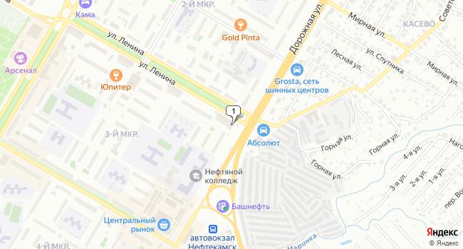 Арендовать торговую площадь 400 м<sup>2</sup> в Нефтекамске по адресу Россия, Республика Башкортостан, Нефтекамск, улица Ленина, 1