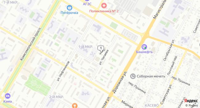 Арендовать офис 94 м<sup>2</sup> в Нефтекамске по адресу Россия, Республика Башкортостан, Нефтекамск, улица Чапаева, 11А