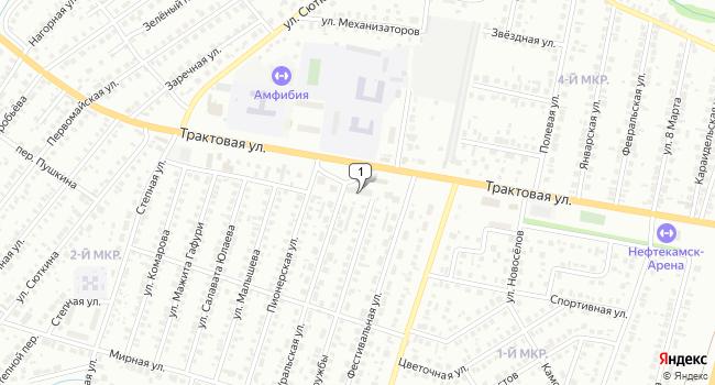 Арендовать торговую площадь 215 м<sup>2</sup> в Нефтекамске по адресу Россия, Республика Башкортостан, Нефтекамск, Трактовая улица, 58