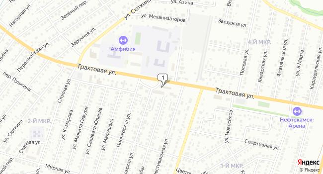Арендовать торговую площадь 51 м<sup>2</sup> в Нефтекамске по адресу Россия, Республика Башкортостан, Нефтекамск, Трактовая улица, 58Б