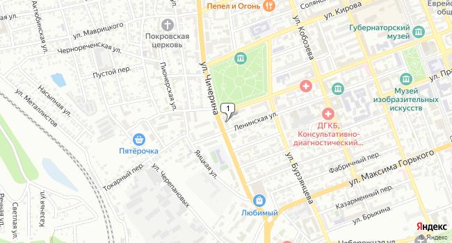 Купить коммерческую недвижимость 525 м<sup>2</sup> в Оренбурге по адресу Россия, Оренбург, улица Чичерина, 20