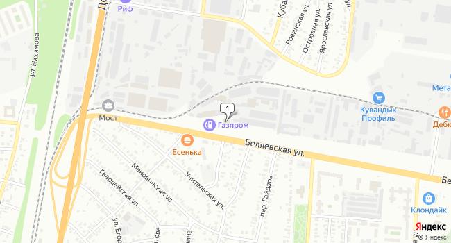 Купить торговую площадь 2700 м<sup>2</sup> в Оренбурге по адресу Россия, Оренбург, Беляевская улица, 6
