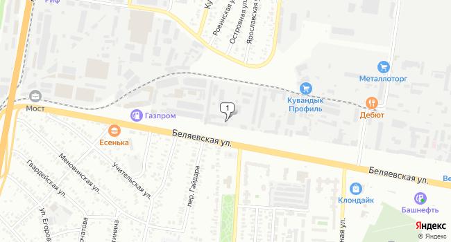 Купить торговую площадь 2700 м<sup>2</sup> в Оренбурге по адресу Россия, Оренбург, Беляевская улица, 8