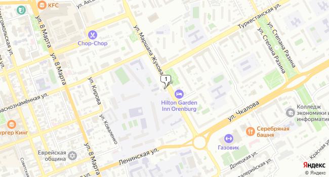 Купить торговую площадь 780 м<sup>2</sup> в Оренбурге по адресу Россия, Оренбург, улица Маршала Жукова, 7