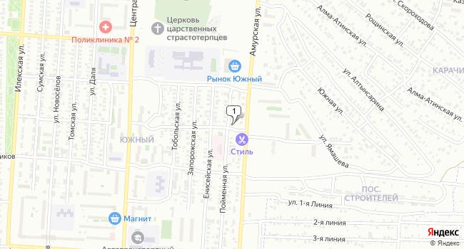 Арендовать торговую площадь 550 м<sup>2</sup> в Оренбурге по адресу Россия, Оренбург, микрорайон Южный, Пойменная улица, 22