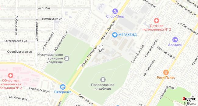 Купить склад 1197 м<sup>2</sup> в Оренбурге по адресу Россия, Оренбург, проспект Победы, 114