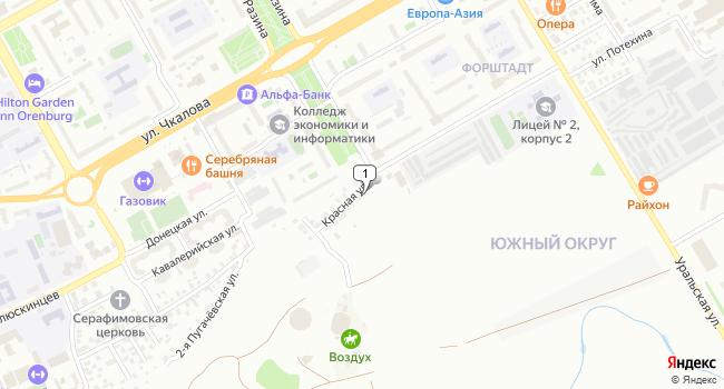 Купить торговую площадь 20 м<sup>2</sup> в Оренбурге по адресу Россия, Оренбург, микрорайон Форштадт, Красная улица, 19