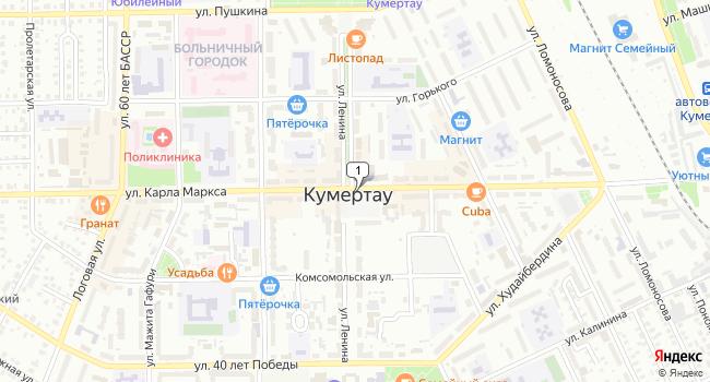 Купить торговую площадь 1100 м<sup>2</sup> в Кумертау по адресу Россия, Республика Башкортостан, Кумертау