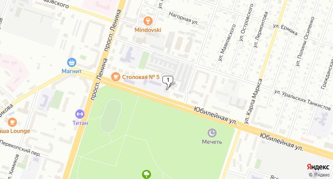 Купить офис 196 м<sup>2</sup> в Березниках по адресу Россия, Пермский край, Березники, Юбилейная улица, 15