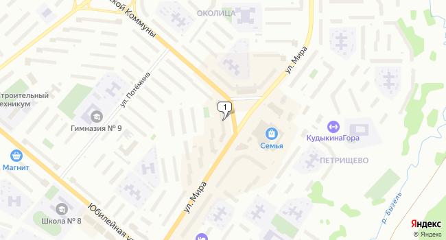 Купить торговую площадь 102 м<sup>2</sup> в Березниках по адресу Россия, Пермский край, Березники, улица Мира, 85