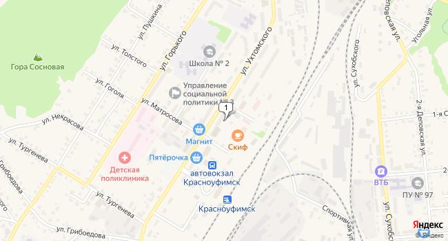 Купить торговую площадь 200 м<sup>2</sup> в Красноуфимске по адресу Россия, Свердловская область, Красноуфимск, улица Ухтомского, 33