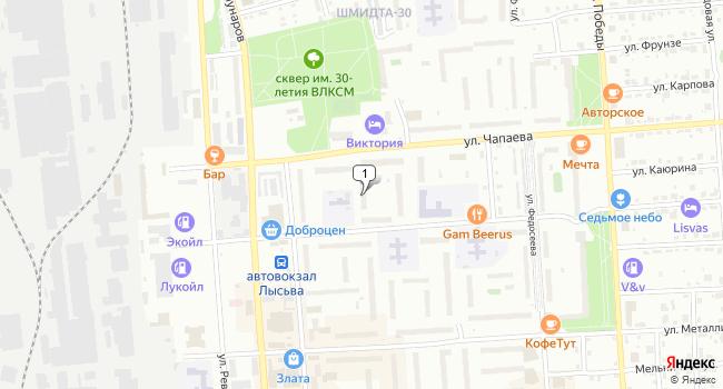 Купить офис 1808 м<sup>2</sup> в Лысьве по адресу Россия, Пермский край, Лысьва, улица Репина, 31