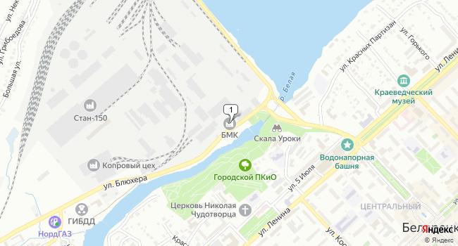 Купить офис 1067 м<sup>2</sup> в Белорецке по адресу Россия, Республика Башкортостан, Белорецк, улица Блюхера, 1
