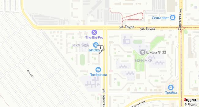 Арендовать коммерческую недвижимость 131 м<sup>2</sup> в Магнитогорске по адресу Россия, Челябинская область, Магнитогорск, улица Тевосяна, 4Б