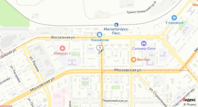 Арендовать торговую площадь 150 м<sup>2</sup> в Магнитогорске по адресу Россия, Челябинская область, Магнитогорск, проспект Карла Маркса, 10