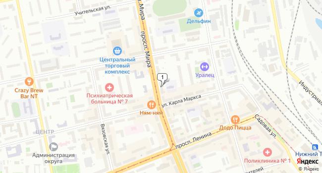 Арендовать торговую площадь 431 м<sup>2</sup> в Нижнем Тагиле по адресу Россия, Свердловская область, Нижний Тагил, проспект Мира, 32