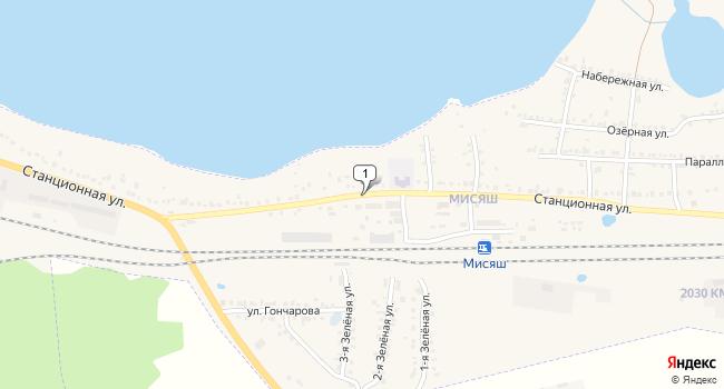 Купить торговую площадь 481 м<sup>2</sup> в Чебаркуле по адресу Россия, Челябинская область, Чебаркуль, поселок Мисяш, Станционная улица