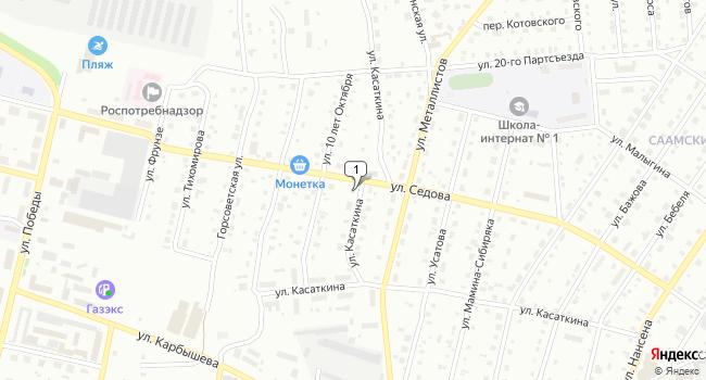 Купить офис 20.5 м<sup>2</sup> в Серове по адресу Россия, Свердловская область, Серов, улица Касаткина, 11