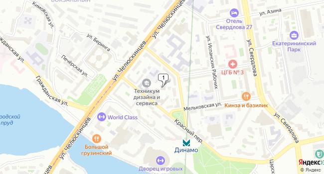 Купить офис 393 м<sup>2</sup> в Екатеринбурге по адресу Россия, Свердловская область, Екатеринбург, Красный переулок, 5К2