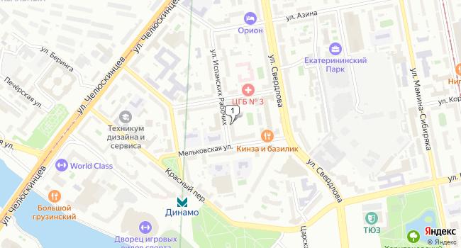 Арендовать торговую площадь 447 м<sup>2</sup> в Екатеринбурге по адресу Россия, Свердловская область, Екатеринбург, Мельковская улица, 2Б