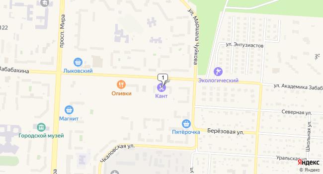 Арендовать коммерческую недвижимость 72 м<sup>2</sup> в Снежинске по адресу Россия, Челябинская область, Снежинск, улица Академика Забабахина, 52