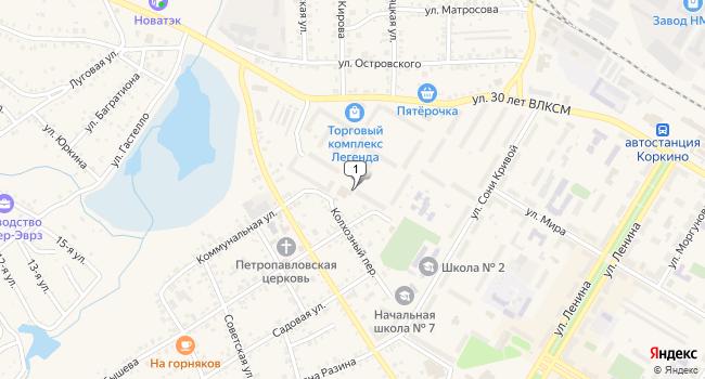 Купить торговую площадь 42 м<sup>2</sup> в Коркино по адресу Россия, Челябинская область, Коркино, Фестивальная улица, 5В