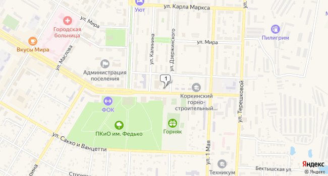 Купить торговую площадь 243 м<sup>2</sup> в Коркино по адресу Россия, Челябинская область, Коркино, улица Цвиллинга, 6