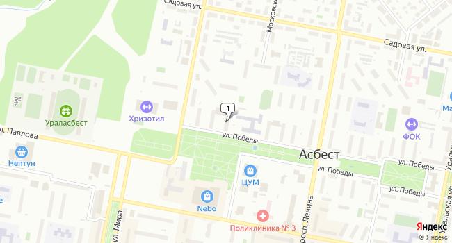 Купить торговую площадь 283 м<sup>2</sup> в Асбесте по адресу Россия, Свердловская область, Асбест, 26