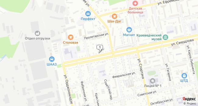 Арендовать торговую площадь 120 м<sup>2</sup> в Шадринске по адресу Россия, Курганская область, Шадринск, улица Свердлова, 19