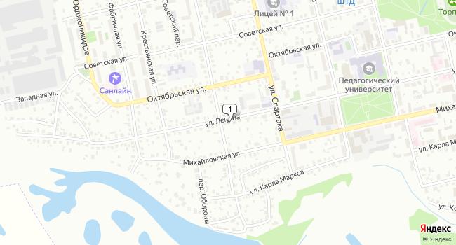 Арендовать торговую площадь 227 м<sup>2</sup> в Шадринске по адресу Россия, Курганская область, Шадринск, улица Ленина, 80