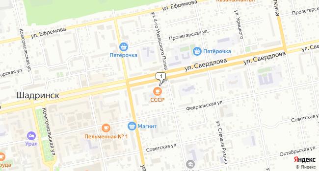 Купить коммерческую недвижимость 483 м<sup>2</sup> в Шадринске по адресу Россия, Курганская область, Шадринск, улица 4-го Уральского Полка, 51