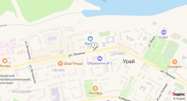 Купить торговую площадь 260 м<sup>2</sup> в Урае по адресу Россия, Ханты-Мансийский автономный округ, Урай, улица Ленина