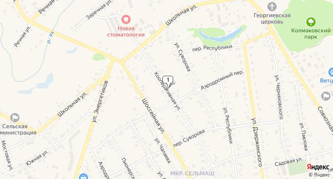Купить торговую площадь 52 м<sup>2</sup> в Заводоуковске по адресу Россия, Тюменская область, Заводоуковск, Кооперативная улица